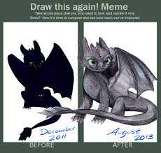 Toothless Meme - draw it again toothless by kyradraws on deviantart