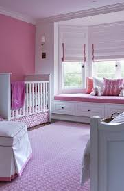 terrific pink window blind nursery traditional with white crown