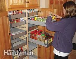 kitchen storage cabinet rollouts family handyman