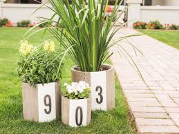 Planter S House by Diy Modern House Number Planters Hgtv