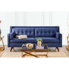 Mid Century Modern Sofa Bed by Hallie Mid Century Modern Sofa Blue