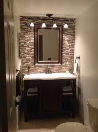 Brilliant Small Modern Half Bathroom Ideas Floor Mirror Behind - Small bathroom styles 2