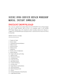 suzuki rv50 service repair workshop manual instant download