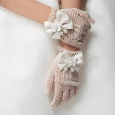 communion gloves new gloves and white lace pearl fishnet communion