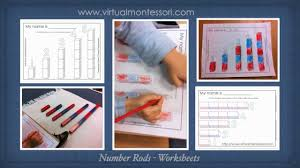 montessori inspired number rods worksheets youtube