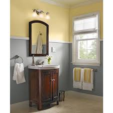 cute bathroom with lowes bathroom vanities and hanging towel rack