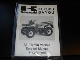 kawasaki klf300 bayou all terrain vehicle service manual