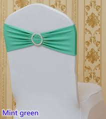 spandex sashes spandex sash with buckles for chair covers mint green colour