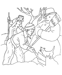 snowman coloring pages for kids printable winter coloring pages