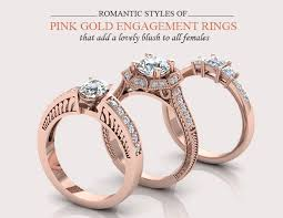 pink rings gold images Glittering pink gold engagement ring styles jpg