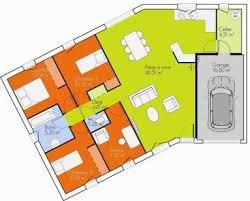 plan de maison en v plain pied 4 chambres plan de maison en v beautiful plan maison bois plain pied m plan