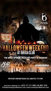 halloween weekend at ibrida club events whatsupbahrain net