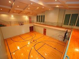 Indoor Basketball Court You Could Play At The Bottom Run Around - Home basketball court design