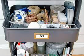 organizing craft supplies with ikea u0027s raskog utility cart little