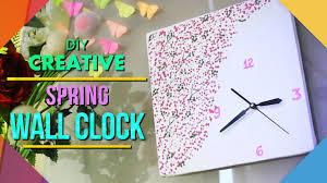 Diy Spring Home Decor Diy Spring Wall Clock Home Decor Youtube