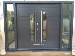 cool contemporary front doors oak iroko and other woods bespoke