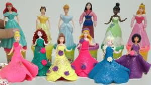 play doh disney princess dresses magiclip u0026 polly pocket dolls