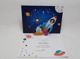 Designs For Birthday Invitation Cards Space Themed Birthday Pop Up Invite Visit Www Popupoccasions Com