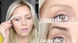 How To Do Eyebrow Diy How To Lighten Or Darken Your Eyebrows The Salon Method