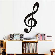 music note wall sticker large promotion shop for promotional music high quality large size treble clef musical note wall decal vinyl removable wall decor nursery sticker for living room wholesale