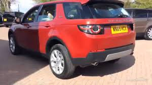 land rover discovery sport red land rover discovery sport td4 hse red 2015 youtube