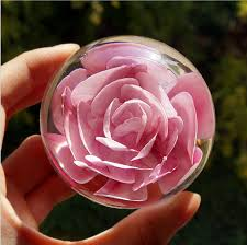 wedding flowers paperweight glass but home decoration office desk paperweight