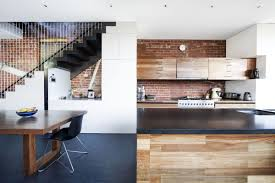 kitchen island dining table warehouse conversion in fitzroy