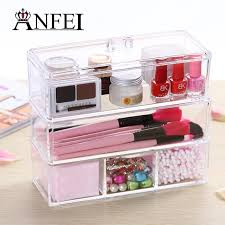 home storage container 3 drawers acrylic makeup organizer lipstick
