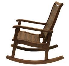 Garden Rocking Chair by Resin Wicker U0026 Eucalyptus Rocking Chair Brown