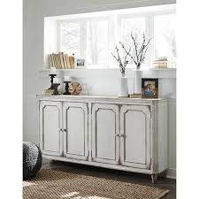 credenza design signature design by mirimyn antique white accent cabinet