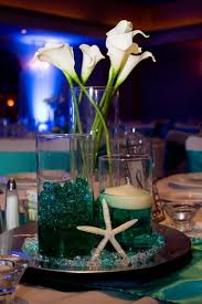 caribbean themed wedding ideas wedding table settings wedding centerpieces aqua