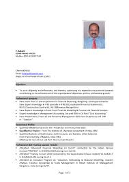 financial modelling resume cv finance officer