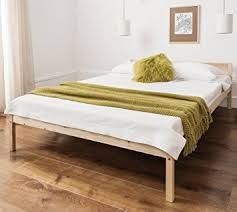 double bed pine 4 u00276 double bed wooden frame sussex amazon co uk