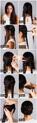 How To Do Easy Hairstyles Step By Step by Pretty Simple Braided Chignon Small Braids Chignons And Updo