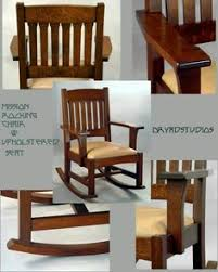 Mission Style Rocking Chair Stickley Inspired Oak Mission Style Rocking Chair Made By An