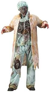 Bloody Doctor Halloween Costume Amazon Funworld Men U0027s Zombie Doctor Light Green Size