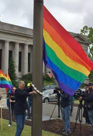 Small Flag Pole Rainbow Flag Raised Over Capitol The Spokesman Review