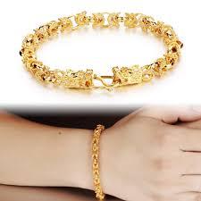 bracelet chain gold man images Opk retro hollow out charm gold color man bracelets vintage dragon jpg