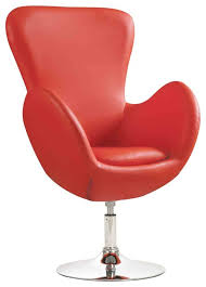Armchairs Accent Chairs Contemporary Red Swivel Leisure Chair Accent Seating
