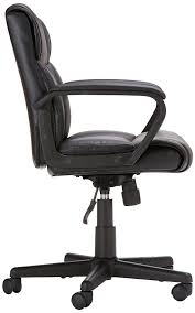 Comfortable Chairs To Use At Computer Amazon Com Amazonbasics Mid Back Office Chair Kitchen U0026 Dining