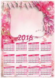 2016 calendar template psd png with flowers photoshop kopona