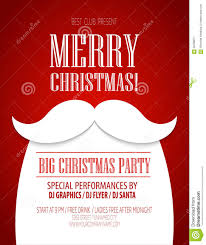 christmas party poster vector illustration stock vector image