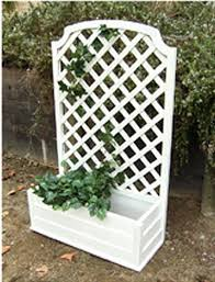 Wooden Planter With Trellis Wood Planter Trellis Town U0026 Country Gardening