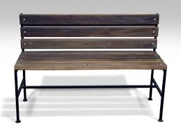 Industrial Style Bench Bench Ipe Wood Bench Outdoor Modern Industrial Style Ipe Wood