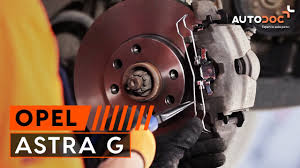 how to replace front brake discs and front brake pads on opel
