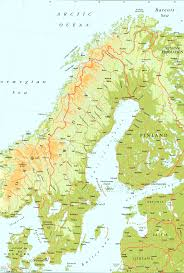 Physical Map Of Germany by Sweden Physical Map U2022 Mapsof Net