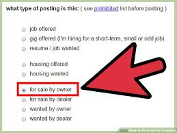 Where To Post Resume Online For Free by How To Post Ads To Craigslist With Sample Ads Wikihow