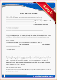 Free Lease Agreement Free Printable Rental Agreements Free Printable Rental Lease