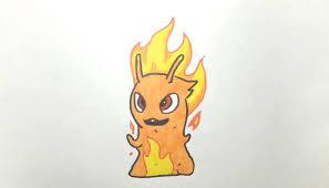 dibujando y pintando a infierno burpy bajoterra drawing and