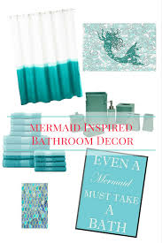 little mermaid inspired bathroom decor running on disney